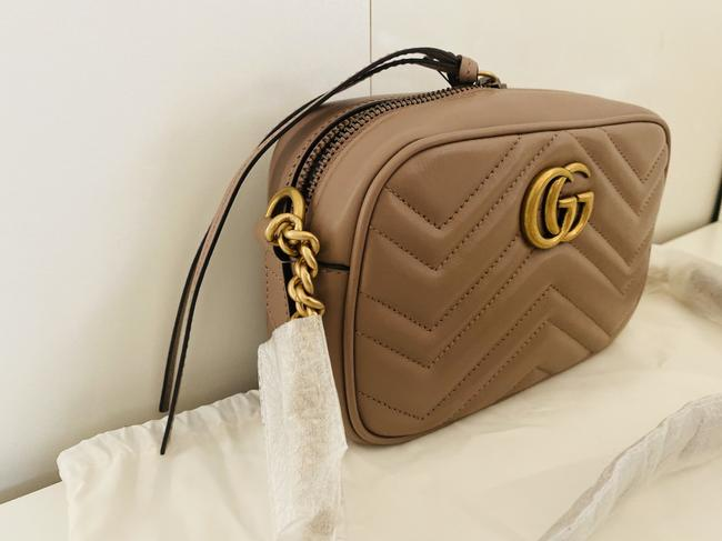 Gucci Shoulder Marmont Gg Camera Mini Quilted Antique Rose Leather Cross Body Bag Gucci Shoulder Marmont Gg Camera Mini Quilted Antique Rose Leather Cross Body Bag Image 11