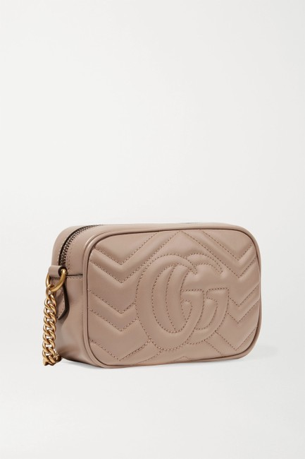 Gucci Shoulder Marmont Gg Camera Mini Quilted Antique Rose Leather Cross Body Bag Gucci Shoulder Marmont Gg Camera Mini Quilted Antique Rose Leather Cross Body Bag Image 3