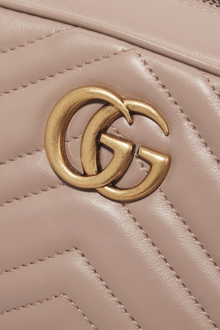 Gucci Shoulder Marmont Gg Camera Mini Quilted Antique Rose Leather Cross Body Bag Gucci Shoulder Marmont Gg Camera Mini Quilted Antique Rose Leather Cross Body Bag Image 4