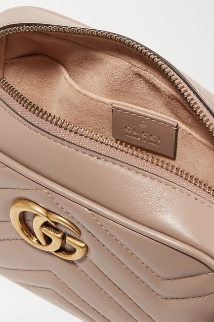 Gucci Shoulder Marmont Gg Camera Mini Quilted Antique Rose Leather Cross Body Bag Gucci Shoulder Marmont Gg Camera Mini Quilted Antique Rose Leather Cross Body Bag Image 5