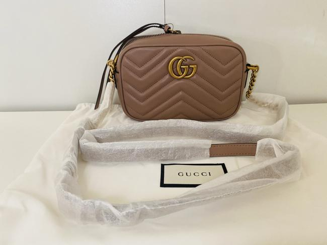 Gucci Shoulder Marmont Gg Camera Mini Quilted Antique Rose Leather Cross Body Bag Gucci Shoulder Marmont Gg Camera Mini Quilted Antique Rose Leather Cross Body Bag Image 6