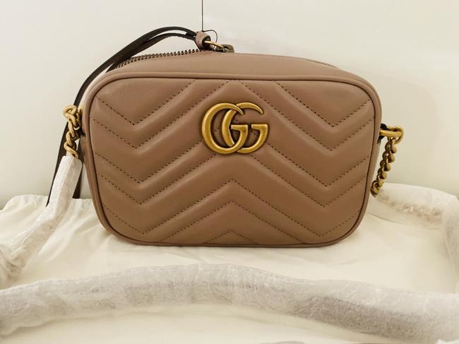 Gucci Shoulder Marmont Gg Camera Mini Quilted Antique Rose Leather Cross Body Bag Gucci Shoulder Marmont Gg Camera Mini Quilted Antique Rose Leather Cross Body Bag Image 7