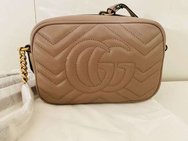 Gucci Shoulder Marmont Gg Camera Mini Quilted Antique Rose Leather Cross Body Bag Gucci Shoulder Marmont Gg Camera Mini Quilted Antique Rose Leather Cross Body Bag Image 9