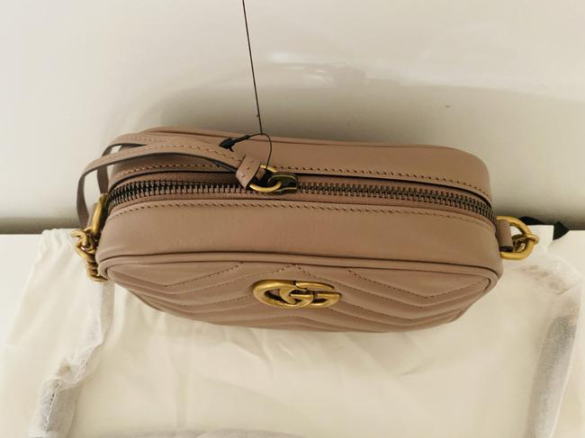 Gucci Shoulder Marmont Gg Camera Mini Quilted Antique Rose Leather Cross Body Bag Gucci Shoulder Marmont Gg Camera Mini Quilted Antique Rose Leather Cross Body Bag Image 10