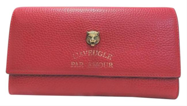 Item - Red Color Animalier Continental 453164 Long Ladies Wallet