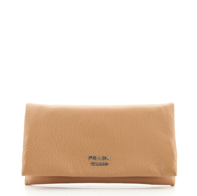 Item - Brown Flap Cervo Leather Medium Wallet