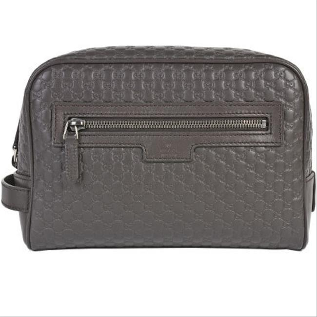 Item - Second Micro Gg 419775 Black / Brown Leather Clutch