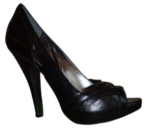 Charles by Charles David In Box Work Snakeskin Leather Black Pumps