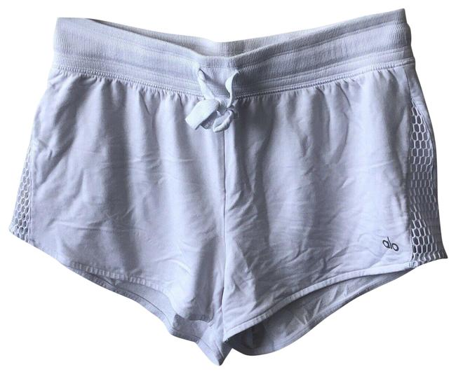 Item - White Womens Shorts Yoga Athletic Ambience Mesh Lay Run Gym Activewear Size 8 (M)