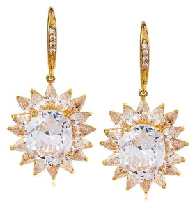 Kenneth Jay Lane Kenneth Jay Lane CZ Sunburst Dangle Earring