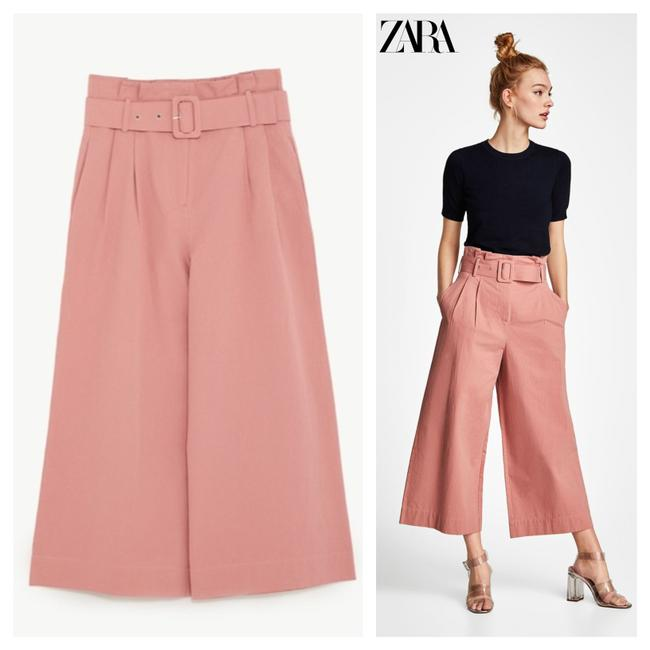 Item - Pink Belted High Pants Size 12 (L, 32, 33)