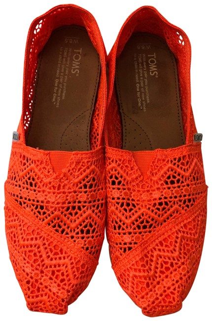 Item - Neon Orange Flats Size US 8.5 Regular (M, B)