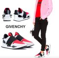 Givenchy Black Red Womens Runner Elastic Leather Logo Sneaker 41 Athletic Size US 11 Regular (M, B) Givenchy Black Red Womens Runner Elastic Leather Logo Sneaker 41 Athletic Size US 11 Regular (M, B) Image 1