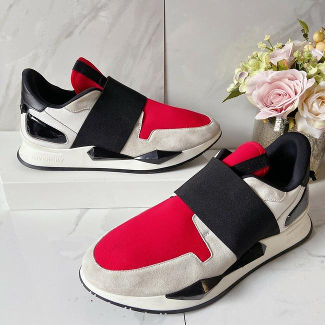 Givenchy Black Red Womens Runner Elastic Leather Logo Sneaker 41 Athletic Size US 11 Regular (M, B) Givenchy Black Red Womens Runner Elastic Leather Logo Sneaker 41 Athletic Size US 11 Regular (M, B) Image 2