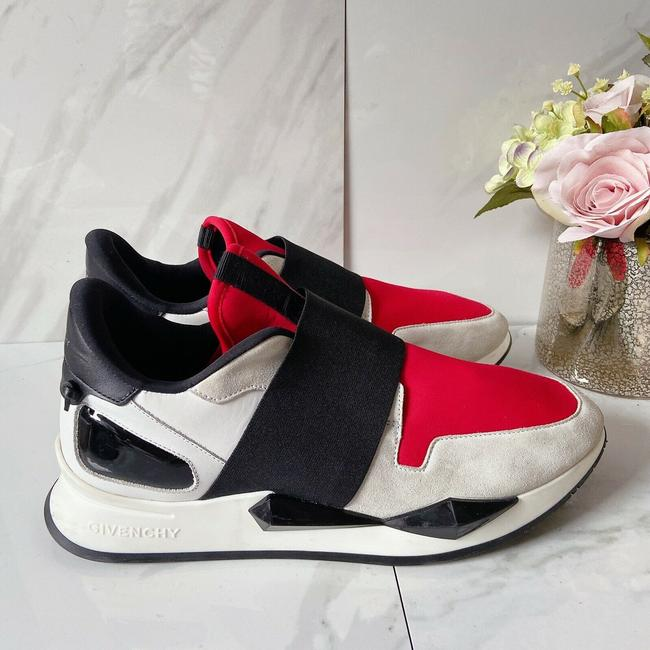Givenchy Black Red Womens Runner Elastic Leather Logo Sneaker 41 Athletic Size US 11 Regular (M, B) Givenchy Black Red Womens Runner Elastic Leather Logo Sneaker 41 Athletic Size US 11 Regular (M, B) Image 4