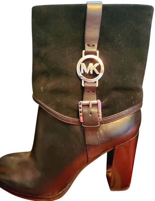 Item - Black with Silver Mk Kate Spage Collection Boots/Booties Size US 7.5 Regular (M, B)