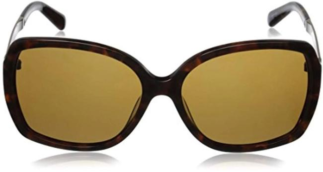 Item - Brown Havana and Gold Darilynn/P/S Cx4 Vw 53mm Square Butterfly Polarized Sunglasses