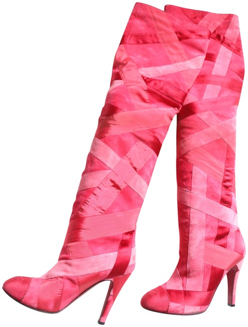 Item - Red and Pink Boots/Booties Size EU 38.5 (Approx. US 8.5) Regular (M, B)