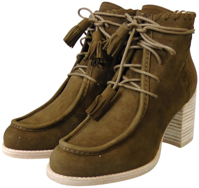 Item - Olive Suede Wallawalla Lace-up Ankle Boots/Booties Size US 5.5 Wide (C, D)