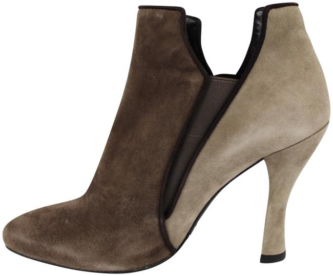 Item - Brown Suede Two Tone Ankle Boots/Booties Size US 8.5 Regular (M, B)