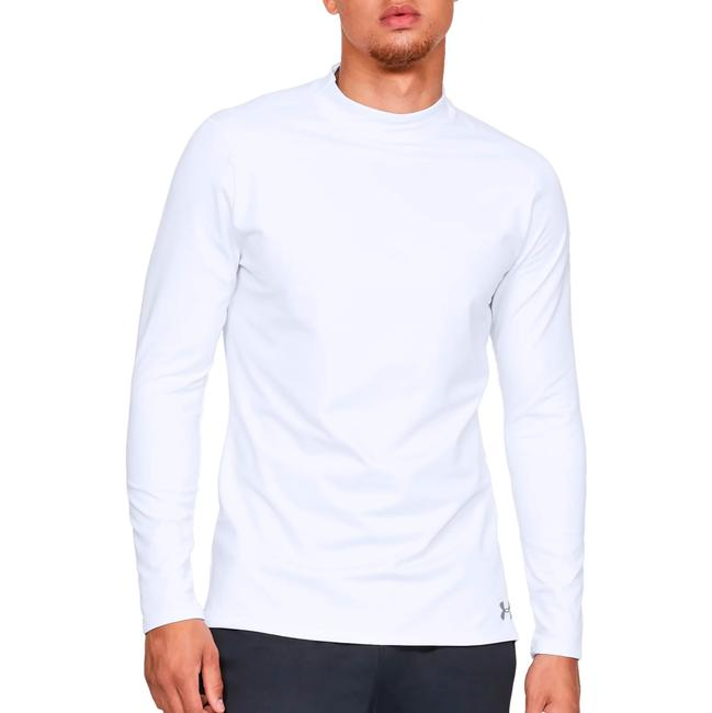 Item - White Coldgear Mock Neck Fitted Shirt Activewear Top Size 14 (L)