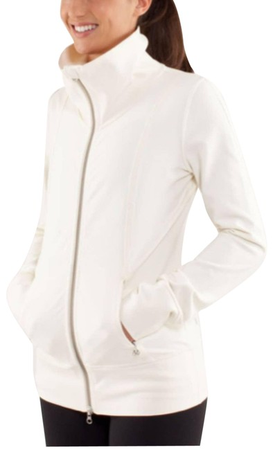 Item - Cream Tall Collar Daily Yoga Activewear Outerwear Size 8 (M)