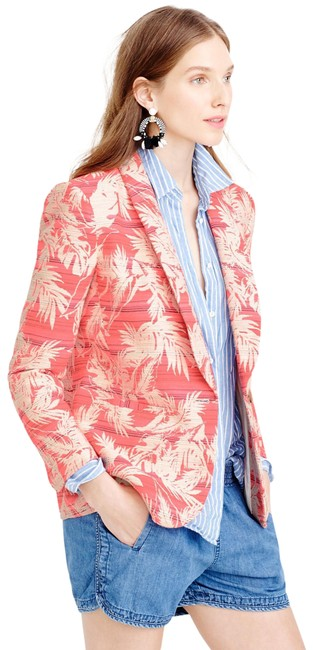 Item - Coral Pink Collection Tropical Jacquard Blazer Size 2 (XS)