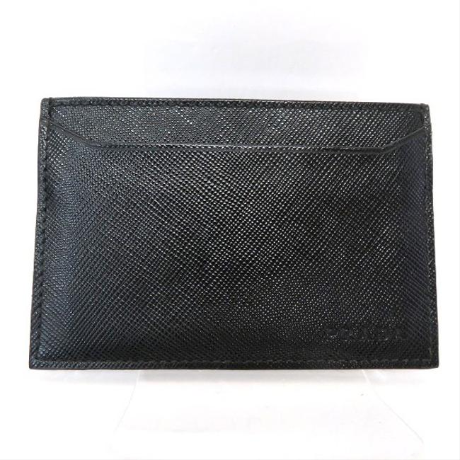 Item - Black / Nero Saffiano M208u Pass Case Business Card Holder Men's Wallet