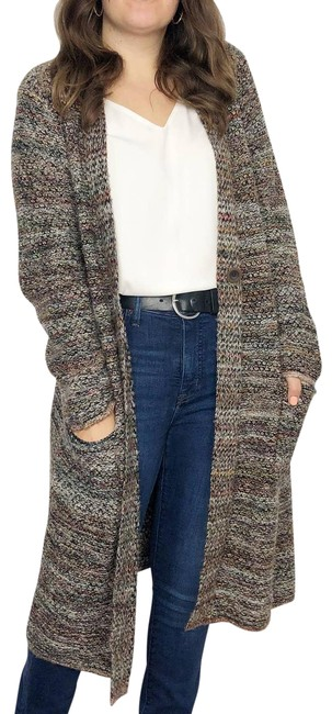 Item - Brown | Multicolored Chunky Knit Long Duster Women's Large Cardigan Size 12 (L)