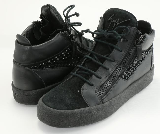 Item - Black Nicki Leather High-top Sneakers Shoes