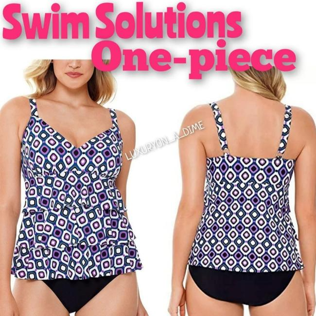 Item - Jewles Tiered Fauxtini One-piece Bathing Suit Size 10 (M)