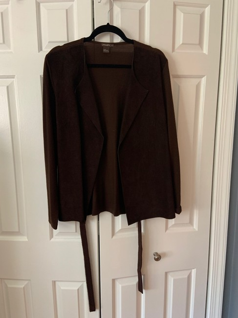 Item - Brown Suede Sweater Jacket Size 10 (M)