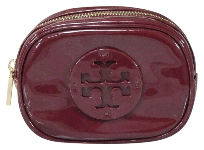 Item - Red Agate Stacked Patent Leather Small Handbag 40926 Cosmetic Bag
