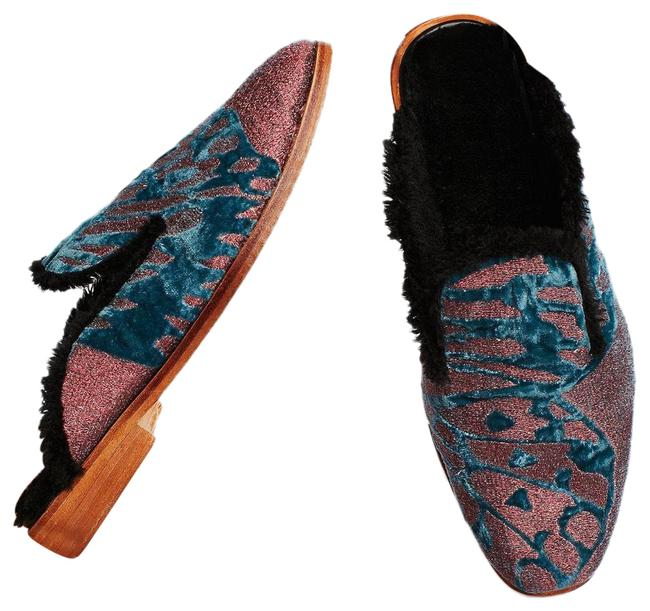 Item - Multicolor New Butterfly Effect Faux Fur Loafer Mules/Slides Size US 10 Regular (M, B)