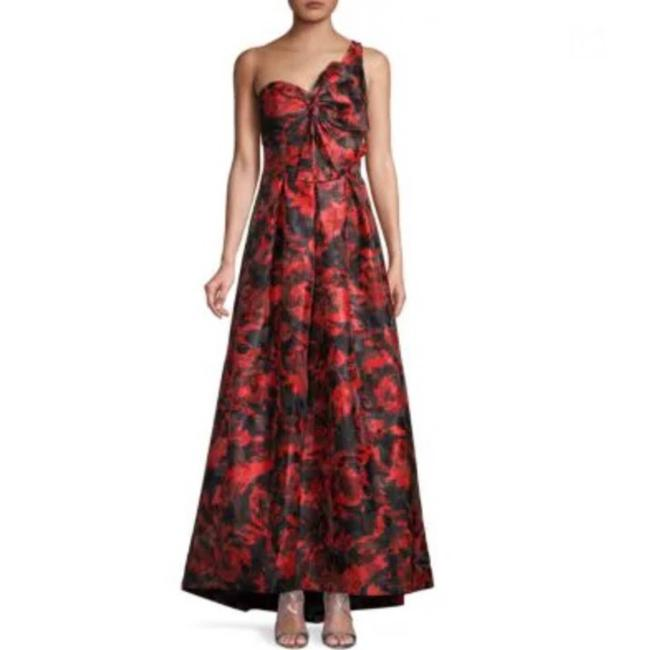 Item - Red Infusion Oneshoulder Gown Long Formal Dress Size 16 (XL, Plus 0x)
