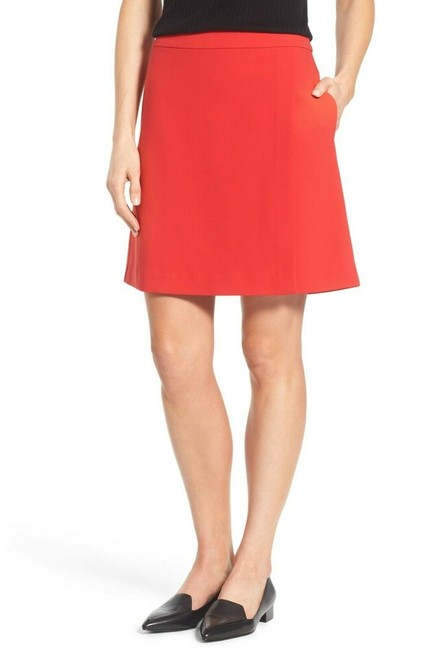 Item - Red Ed Faux Wrap A Line Above Knee Skirt Size 10 (M, 31)