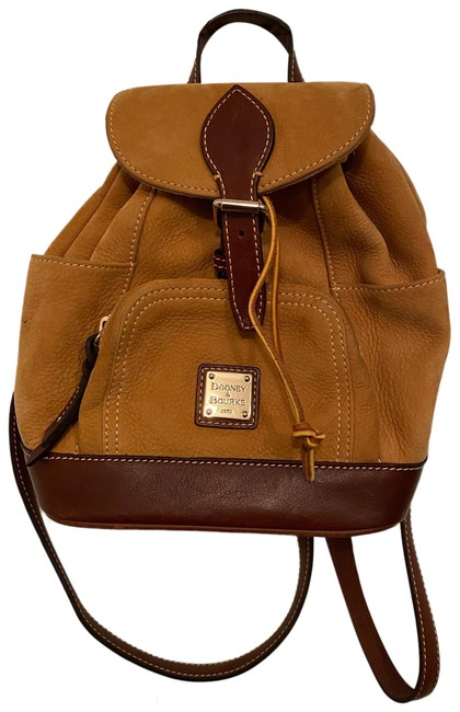 Item - Tan/ Camel Suede Leather Backpack