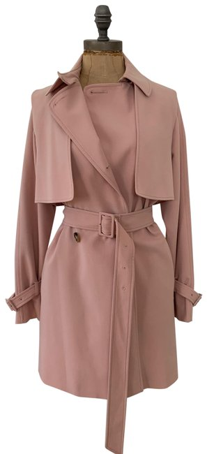 Item - Pink Belted Double Breasted Trench Coat Jacket Size 4 (S)