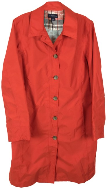 Item - Red Button Front Lightweight Coat Size 10 (M)
