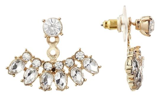 Kenneth Jay Lane Kenneth Jay Lane Crystal Fan Shape Earring