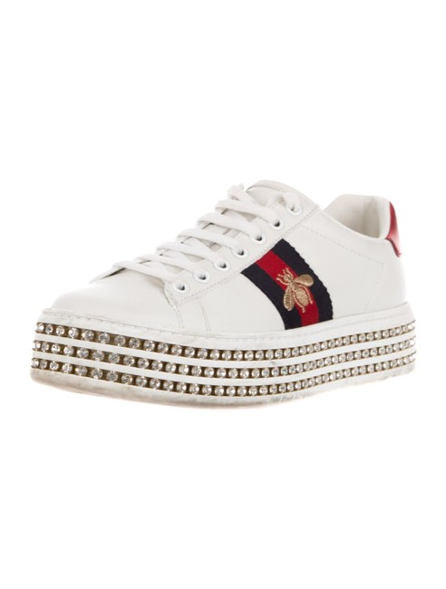 Item - White Ace Crystal Sneakers Size US 5.5 Regular (M, B)
