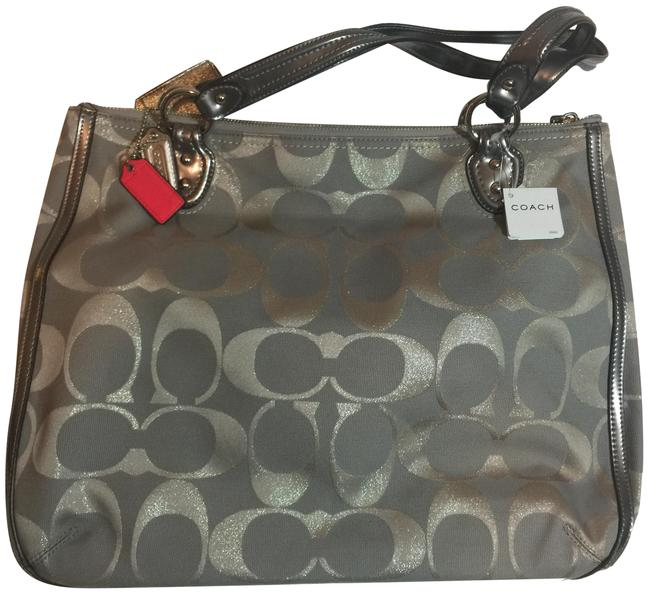 Item - Pop S Mtl Silver Coated Canvas Tote