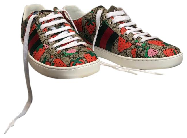 Item - Brown Gold Box New In Strawberry Leather Sneakers Size EU 38.5 (Approx. US 8.5) Regular (M, B)