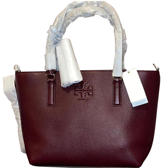 Item - Thea Small Convertible Imperial Garnet Leather Tote