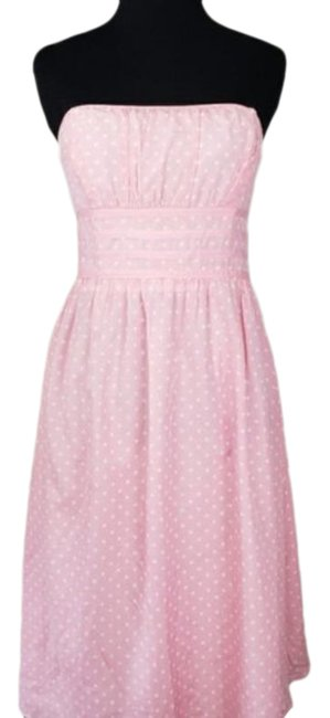 Item - Pink White Label Iced Katrina Strapless Mid-length Short Casual Dress Size 14 (L)