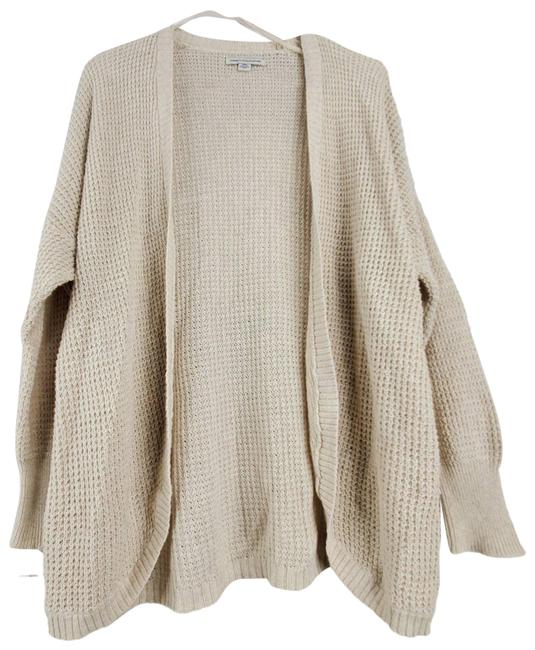 Item - Cream Aeo Oversize Open Front Long Sleeve Knit Sweater Cardigan Size 4 (S)