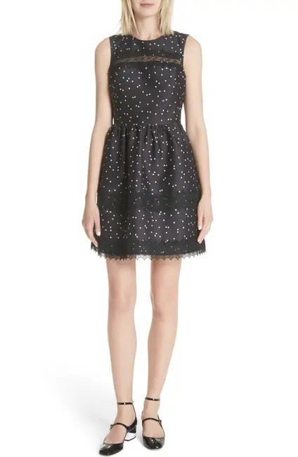 Item - Black and Pink Polka Dots Scatter Dot Mikada Short Cocktail Dress Size 0 (XS)