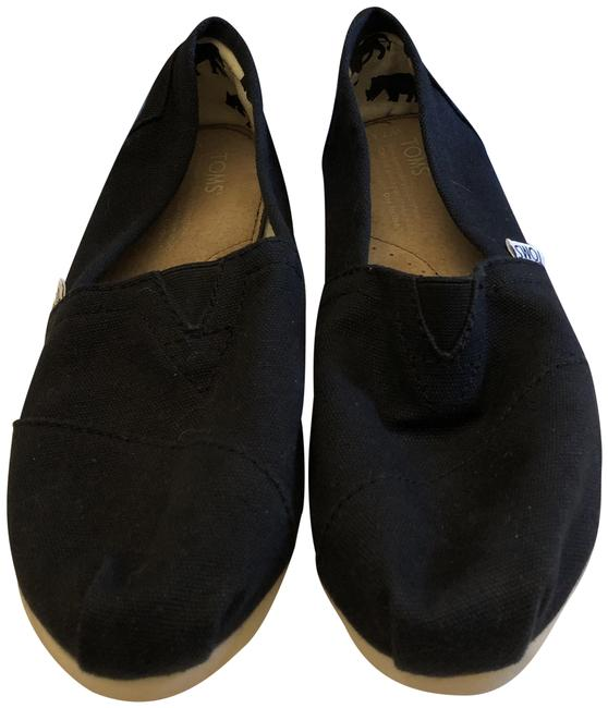 Item - Black Alpargatas Flats Size US 7.5 Extra Wide (Ww, Ee)