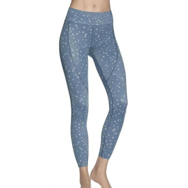Item - Blue Dazzling Spotted Aqua Mid Rise 7/8 Activewear Bottoms Size 12 (L, 32, 33)