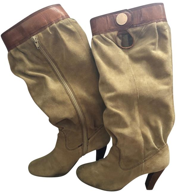 Item - Tan Slouch Boots/Booties Size US 7.5 Regular (M, B)
